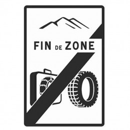 Panneau B59 - Fin de Zone...