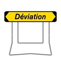 Panneaux de déviation temporaire